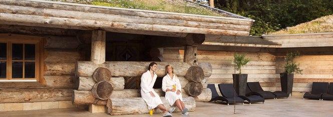 Sauna buiten - drankje