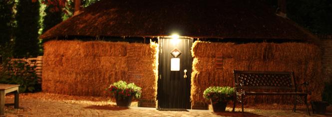 Sauna buiten avond